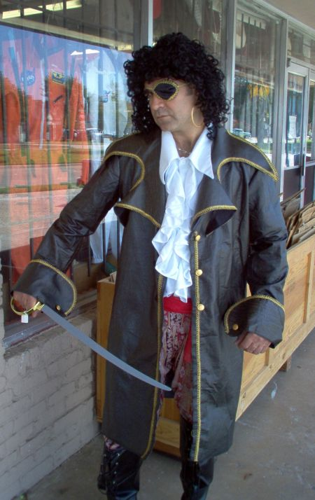 pirate costume in leather coat