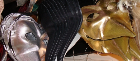 Black, Gold and Silver Beak Masks