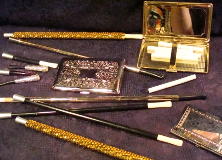 Flapper Accessories, Cigarette Holders, Cigarette Cases, etc.