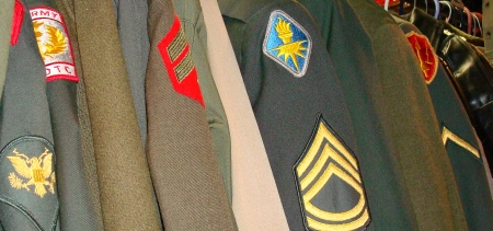 Vintage and Modern Army Uniforms, Etc.