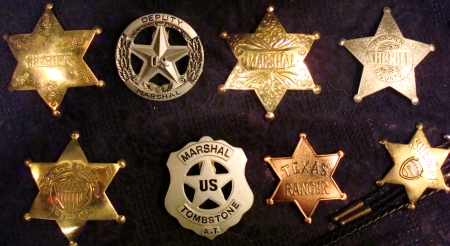 Old West Official Replica Sheriff Marshal Deputy Badges Bolero Ties