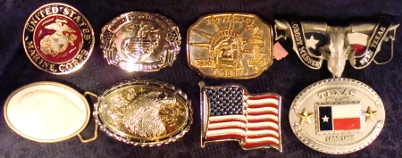 Texas Marine Corps Buckles, Patriotic Buckle, Texan Buckles, etc.