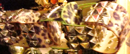 Glam Rock Accessories, Studded animal print bracelets