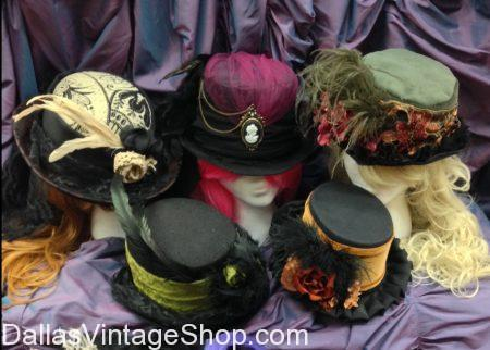 SHOW OFF: Dickens on the Strand: Nov. 30-Dec. 2, 2018: Gorgeous Ladies Victorian Hats, Dickens Era Ladies Attire
