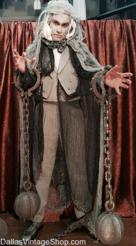 Deluxe 'A Christmas Carol' Theatrical Costume, All Dickens Characters: Ghost of Jacob Marley, Christmas Past, Present & Future, Scrooge.