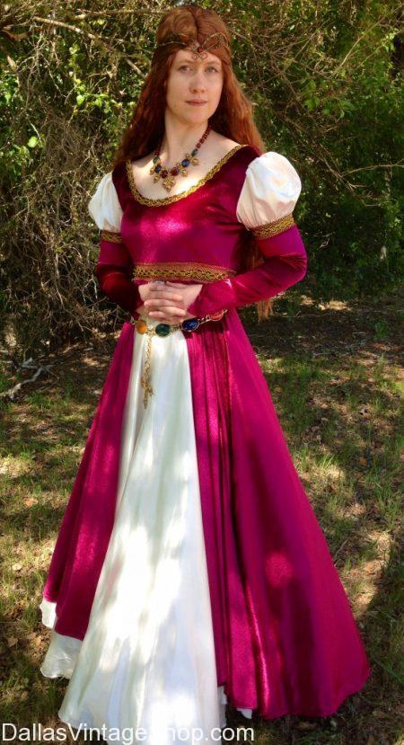Ladies Quality Renaissance Costumes, Ren Fest Royalty & Nobility Attire