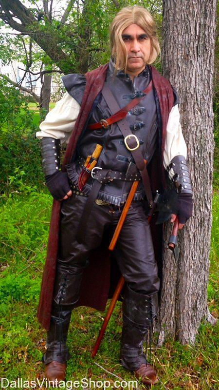 High-Quality Renaissance Garb, Men's Huntsman Costume