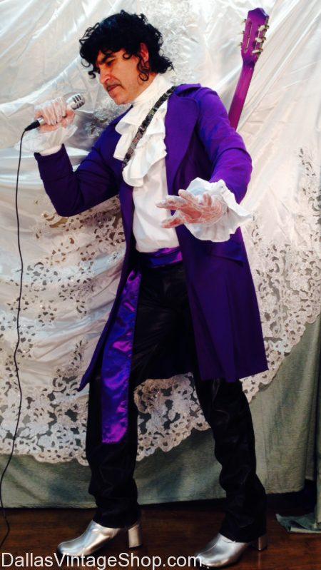 Prince Costume Mens 1980s Pop Rock Purple Rain Adult Fancy Dress Outfit music
