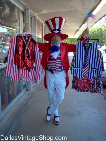 July 4th Theme Costumes and Accessories, Patriotic Suits, Hats & Coats, Uncle Sam Costunes, High-Quality Holiday Costumes: Not Your Father's Fourth of July Block Party @ Henderson Ave, Dallas TX, July 1st 2016