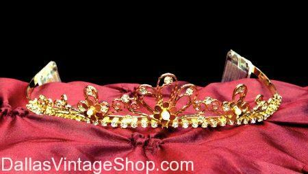 Gold, Pearl Accent Tiara