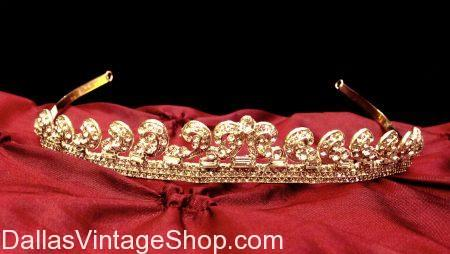 Unisex Men's Women's Gold Headband or Tiara
