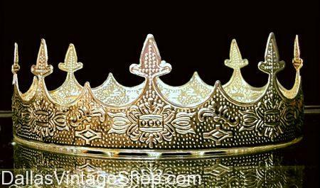 Renaissance Crowns, Medieval Crowns, Embossed Metal Crowns, Crowns Dallas, Where to Buy Crowns in Dallas, King Costumes Dallas, Queen Costumes Dallas, High Quality Metal Crowns Dallas, Fleur-de-lis Accessories DFW, Texas Costume Stores, Men's Costume Crowns Dallas, DFW Costume Shops, Dallas Costume Shops, 2017, Crowns, Royalty Accessories, King Costumes, Queen Costumes,