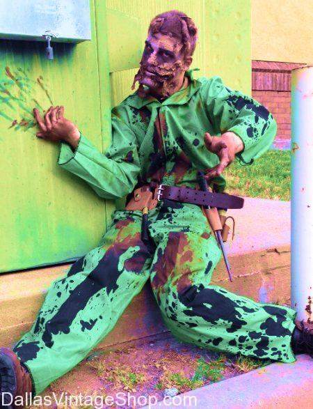 Classic Halloween Costumes, Zombie Outfit, High-Quality Zombie Makeup & Gore Effects: Dallas 2017 Halloween Bar Crawl, October 27-28 2017