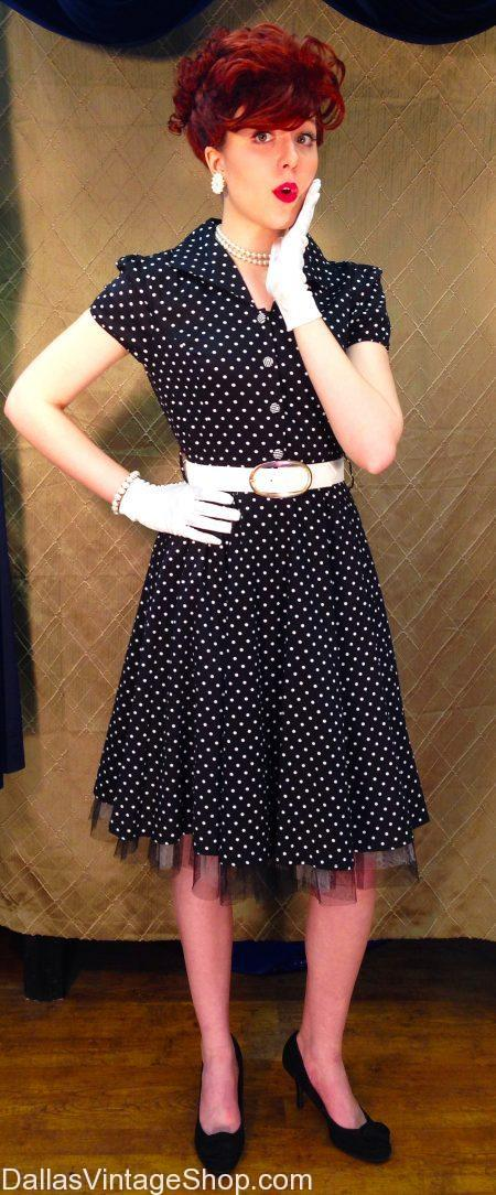 Retro Classic 50's I Love Lucy Costume, Decades Night: The 50s