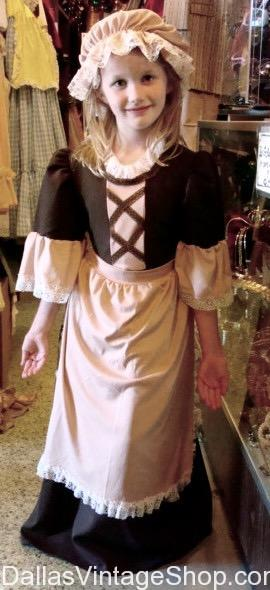 Thanksgiving Day Colonial Girl Costume