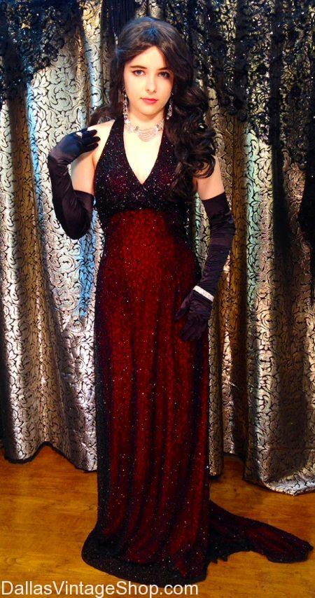 Ladies' Stunning Romantic Black & Red Evening Gowns