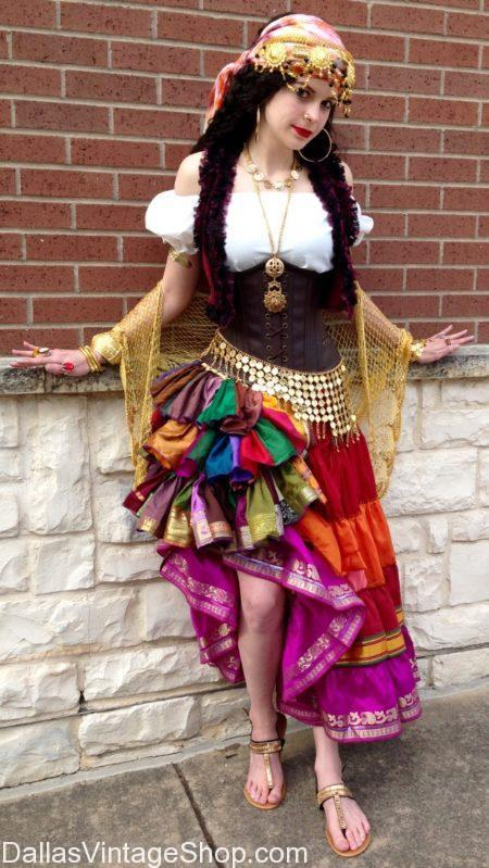 Elaborate Gypsy Costumes Dallas, Renaissance Gypsy Princess Costumes, Ladies Gypsy Costumes Dallas, Dfw Gypsy Attire, Gypsy Skirts & Dresses Dallas,