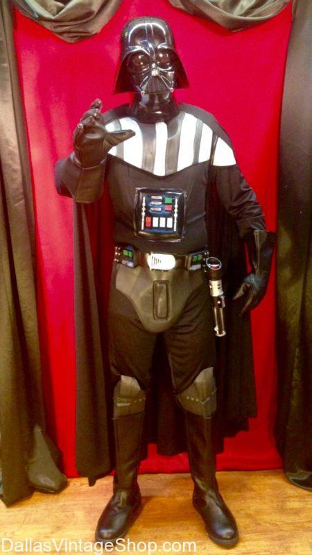 Darth Vader Star Wars Costume & Helmet is in Stock DFW., We have Star Wars Costumes, Darth Vader Costumes, Darth Vader Helmets & All Star Wars Characters Costumes & Accessories in stock in our Dallas Metroplex Star Wars Costume Shop
