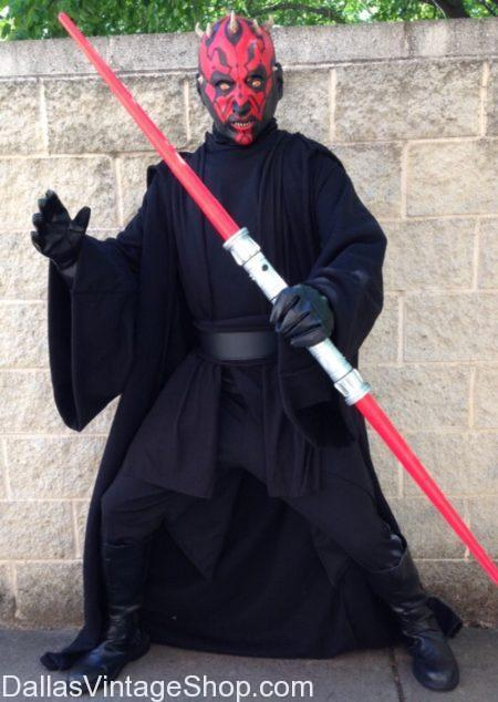 We have Darth Maul Sith Lord Star Wars Costume, Star Wars Quality Costume Shop in Dallas, Star Wars Sith Lord Costumes in DFW, Costume Stores Dallas Area with Darth Maul Masks, Darth Maul Costume & Mask In Stock,Darth Maul Sith Lord, Star Wars Phantom Menace