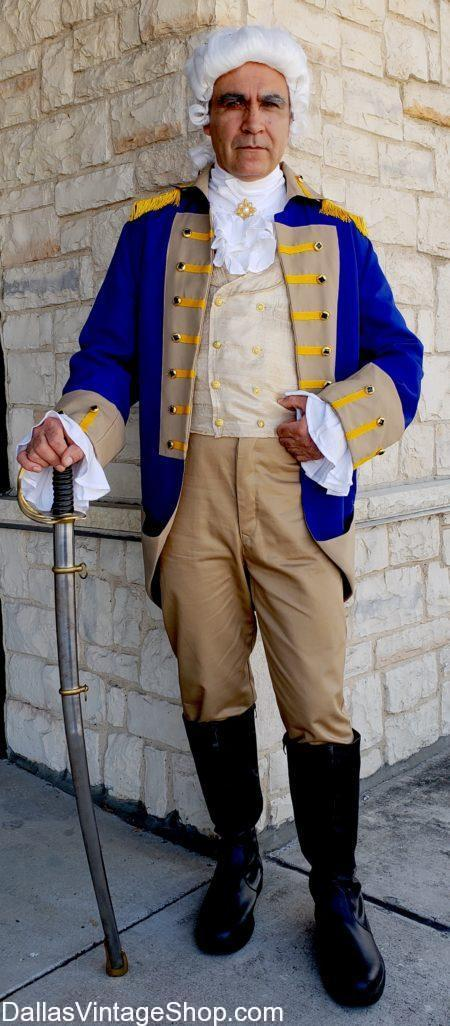 Get this George Washington Blue Uniform Costume, US First President Quality Costume, Patriotic Americans Attire, Patriotic George Washington Costumes, Theatrical George Washington Costumes, George Washington Historical Costumes, George Washington Costumes, Patriotic Costumes,  Patriotic Parade Costumes,  Patriotic Celebration Costumes,  Patriotic 4th of July Costumes,  Patriotic Historical Costumes,