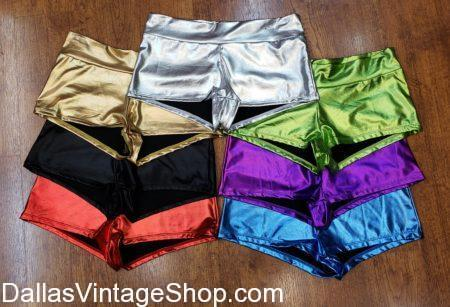Metallic Booty Shorts, Hot Pants, Dance Shorts, Rave WEar, Festival Wear, Festival, Shorts, Burning Man, Women's Metallic Short Shorts