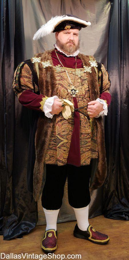 Texas Renaissance Festival Costumes from Dallas Vintage Shop include this TRF King Henry VIII Costume.