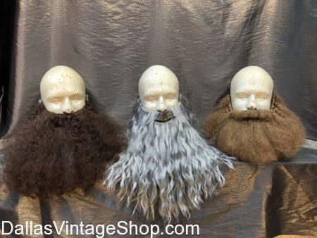 Long Beard, Wizard Beard, Grey Beard, Brown Beard, Fake Beard, Fake Facial Hair