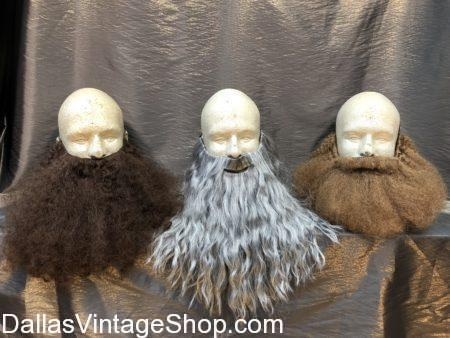 Wizard Beards, log beard, brown beard, grey beard, smooth beard, shaggy beard