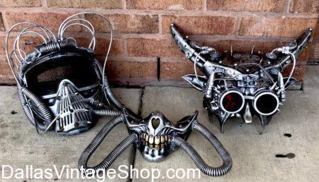 Burning Man Face Masks, Cyborg Goggles with Horns, Futuristic, Sci-fi, Cyber Punk, Eye Wear, Mask, Goggles, Burning Man