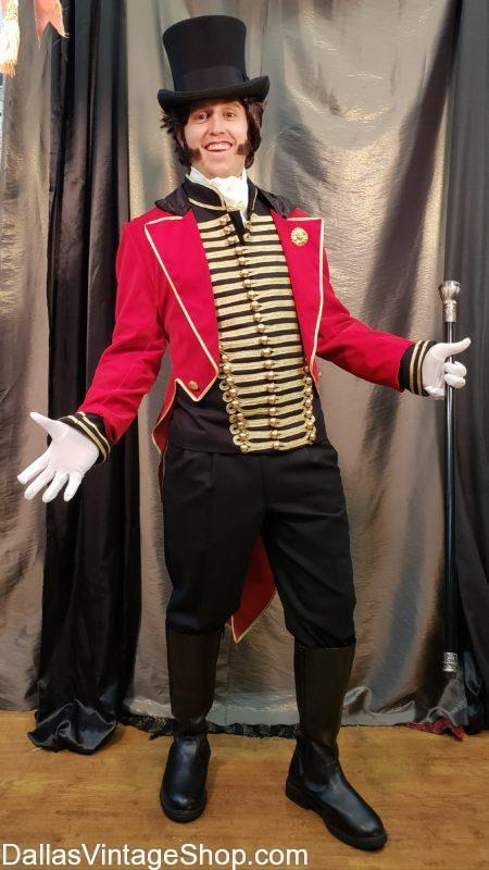 We have this Circus Costumes The Greatest Showman, PT Barnum, The Greatest Showman, Hugh Jackman Circus Attire and more. Get Circus Attire Dallas, Circus Carnival Costumes, Circus Costume Rentals, circus costumes, Circus Freaks Costumes, Circus Makeup, Circus Red Tailcoats, Circus Ringmaster Costume, Circus Ringmaster Tail Coat, Hugh Jackman Circus Attire, PT Barnum Circus Ringmaster Outfit, Quality Circus Character Costumes, The Greatest Showman Circus Costumes, Theatrical Circus Costumes and Accessories.