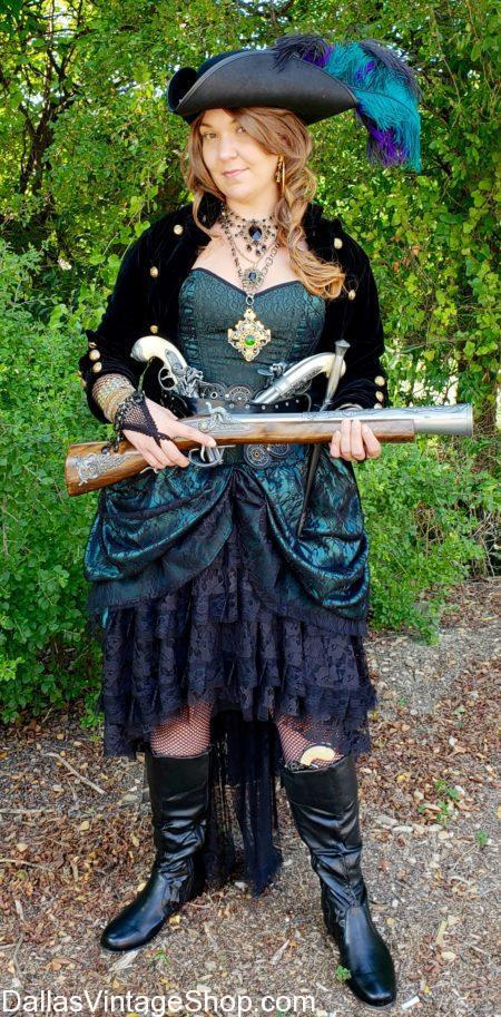 Fancy pirate, sexy pirate, pirate hat, Pirate weapons, pirate lady costume, girl pirate costume