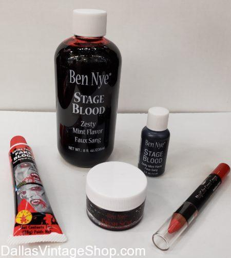 We have Vampire Costume Stage Blood, Vampire Blood, Vampire Makeup Kits. Vampire Costumes & Accessories, Ben Nye Vampire Coagulated Blood, Ben Nye Quality Vampire Blood, Special Effects Blood, Ben Nye Quality Costume Makeup in Stock.