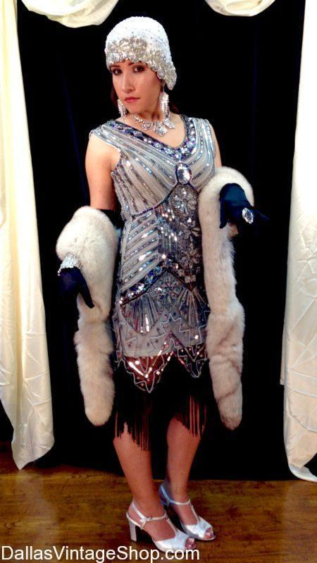 Get 1920's Classic Attire, Stunning Beaded Tasseled Flapper Dresses and 1920's Classic Attire, 1920's Beaded Flapper Dresses, Superior Quality 1920's Dresses, 1920's Authentic Styles, 1920's Gala Attire, Beaded 1920's Gowns, Fancy Sequined 1920's Dresses, Rich 1920's Dresses, Exclusive 1920's Dresses & Accessories, 1920's Cloche Hats, Complete High Class 1920's Dresses, Get Couture 1920's Fashions.