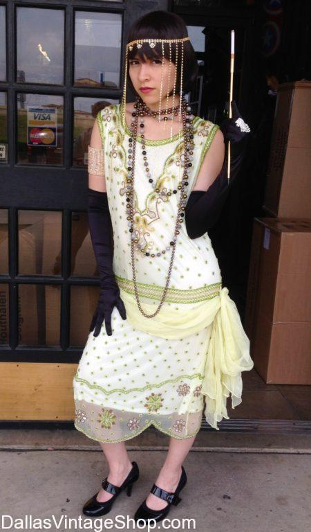 We have the most 1920's Party Dresses & 20's Authentic Fashions in stock. Get 1920's Party Dresses, 1920's Fashions, 1920's Dresses, 1920's Ladies Attire, 1920's Cute Dresses, 1920's Authentic Fashions, 1920's Era Theatrical Attire, 1920's Flapper Dresses, 1920's Fashion Wigs, 1920's Ladies Shoes, 1920's  Costumes and Accessories.