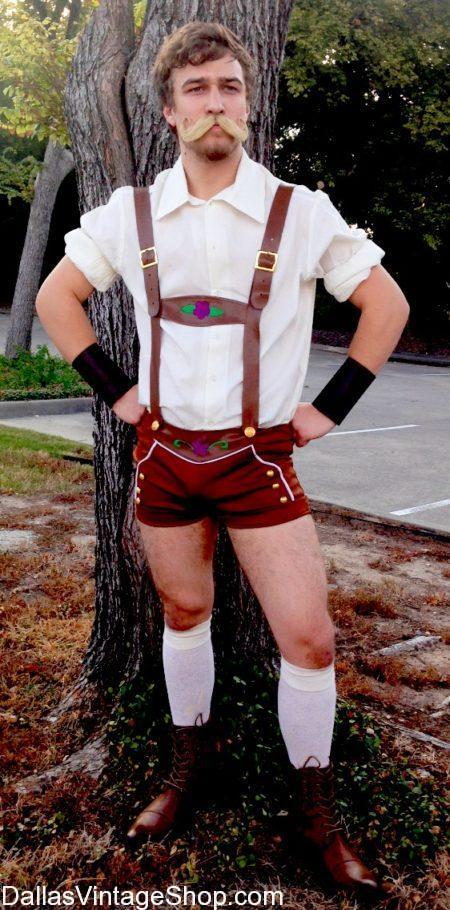 We have Oktoberfest Sexy Man Costumes, German Bar Brawler Lederhosen Outfit in Stock. Get Men's Oktoberfest Sexy Men Lederhosen, Oktoberfest Men's Attire, Oktoberfest Men's Costumes, Oktoberfest Men's Leaderhosen, Oktoberfest Quality Lederhosen, Oktoberfest Manly Men Costumes, Oktoberfest Sexy Men Costume, Oktoberfest Sexy Lederhosen, Oktoberfest Complete Men's Costumes, Oktoberfest Men's Costume Ideas, quality Oktoberfest Men's Costumes & Accessories at Dallas Vintage Shop.