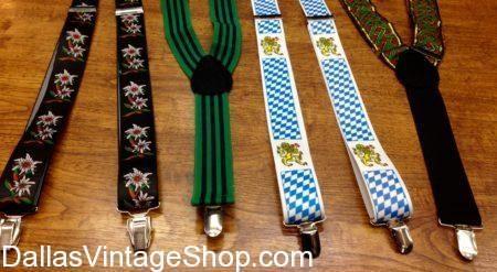 Oktoberfest Suspenders, German Suspenders, Alpine Suspenders, lederhosen, Bavarian Supenders