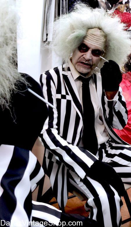 Beetlejuice Costume Makeup, Character MAkeup, Costume Makeup, Professional Makeup, Ben Nye Makeup, Beetlejuice Make up, Beetlejuice Movies, James Franco, Tim Burton, Lydia, Tim Burton Movies, Betelgeuse, Beetlejuice Costume, Beetlejuice Song, Beetlejuice Actor