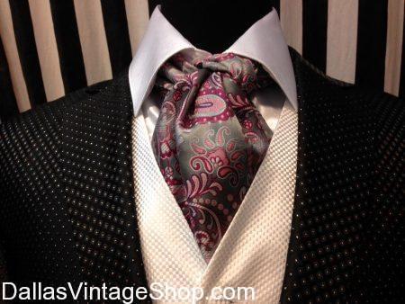 Classic Smoking Jackets & Accessories, Neckerchiefs, Silk Scarves, Ascots, Menswear