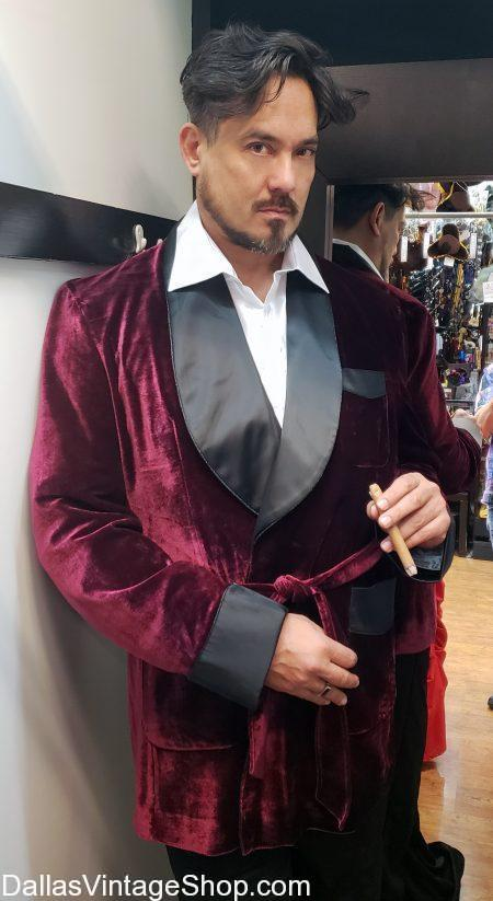 Look at our Quality Smoking Jackets, Shown here. This Velvet & Satin Smoking Jacket is in Stock. Get Smoking Jackets, Playboy Smoking Jackets, Satin Smoking Jackets, Silk Smoking Jackets, Velvet Smoking Jackets, Vintage Smoking Jackets, Luxurious Smoking Jackets, Burgundy Smoking Jackets, Hugh Hefner Smoking Jackets, Quality Smoking Jackets, Brocade Smoking Jackets, Real Smoking Jackets, Authentic Smoking Jackets, Maroon Smoking Jackets, Large Selection Smoking Jackets and more.
