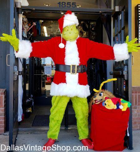 grinch, grinch santa, grinch costumes, buy grinch costumes, find grinch costume