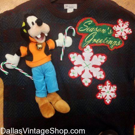 Find Sweaters, Tacky Christmas Sweaters, Ugly Christmes Sweaters, Funny Christmas Sweaters, Creative Christmas Sweaters and One-of-a-Kind Christmas Sweaters in our Dallas Area Christmas Sweater Shop Area.