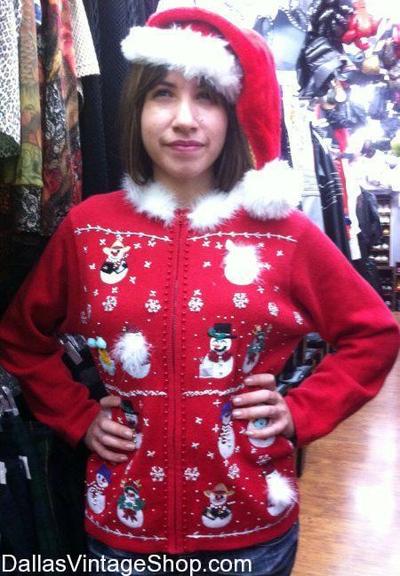 Our Tacky Holiday Sweaters range from Holiday Chic to Holiday Grunge. This Holiday Sweater is Cute and Typical but we also offer Custom Designs and One-of-a-Kind Tacky Holiday Sweaters that are Created to win the Ugly Chirstmas Party Contest.We also have Holiday Sweaters, Tacky Holiday Sweaters, 'Men's Holiday Sweaters, Ladies Holiday Sweaters, Funny Holiday Sweaters, Witty Holiday Sweaters, Naughty Holiday Sweaters, Novelty Holiday Sweaters, Holiday Sweaters Dallas, Holiday Sweater Shops, Holiday Christmas Sweater Stores, Buy Local Holiday Sweaters in our Dallas Shop.