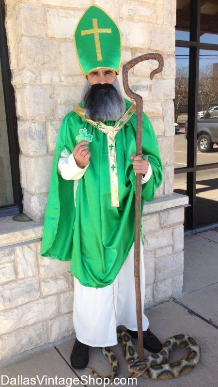 We are Dallas' largest collection of St. Patrick Clerical Attire, Irish Costumes & St. Patty's Day Celebration Costumes.