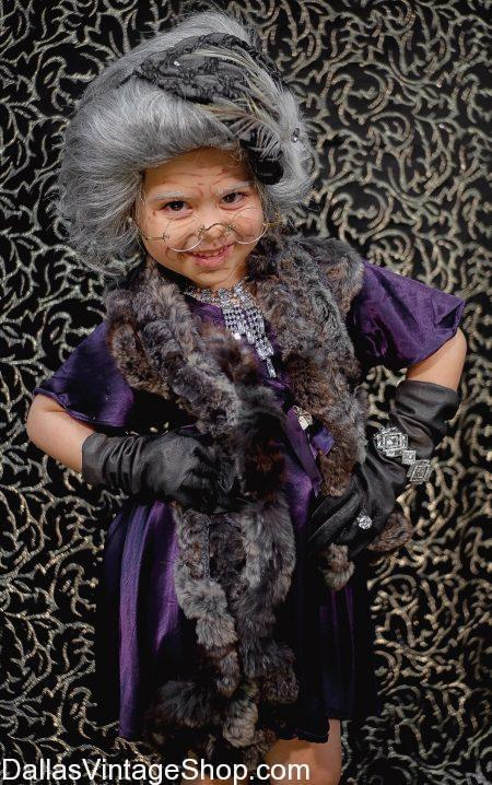 Get kids 100 year old lady costumes, 100th Day School Old Lady Ideas and all the little old lady dresses, wigs, old lady makeup, walking canes, old lady glasses and all the 100th Day of School Outfits and Accessories you need at Dallas Vintage Shop. Our 100 yr old people costumes include 100th Day School Old Lady, 100th Day School Kinder Costumes, 100th Day School Old People Costumes, 100th Day School Old Lady Makeup, 100th Day School Old Lady Kids Attire, 100th Day School Old Lady Ideas, 100 yr old lady, kids 100 yr old lady, 100 yr old lady School Costumes, 100 yr old lady Best Costumes, child 100 yr old lady outfits, 100 yr old lady disd dates, centenarian costume, kids centenarian costumes and accessories in kids sizes.