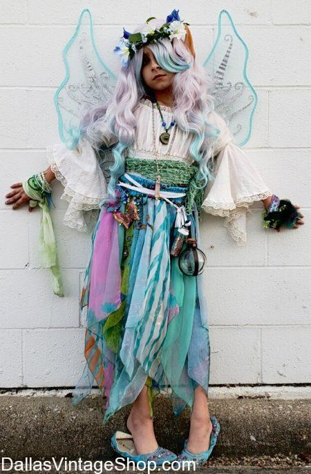 We have this Kids Fairy Costume which includes Fairy Wings, Fairy Ears, Fairy Wigs, Fairy Skirts & Bouses, Fairy Mystical Jewelry and Fairy Makeup.