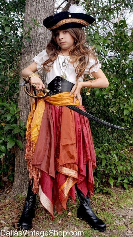 The DFW source for Kids Pirate Costumes, Girls Pirate Dresses, Kids Pirate Swords, Pirate Hats, Girls Pirate Skirts & Blouses, Pirate Jewelry for Children and Kids Pirate Makeup.