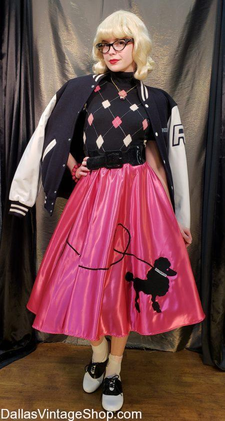 Get Adult & Childrens Poodle Skirts and all the perfect Poodle Skirt Costume Accessories.