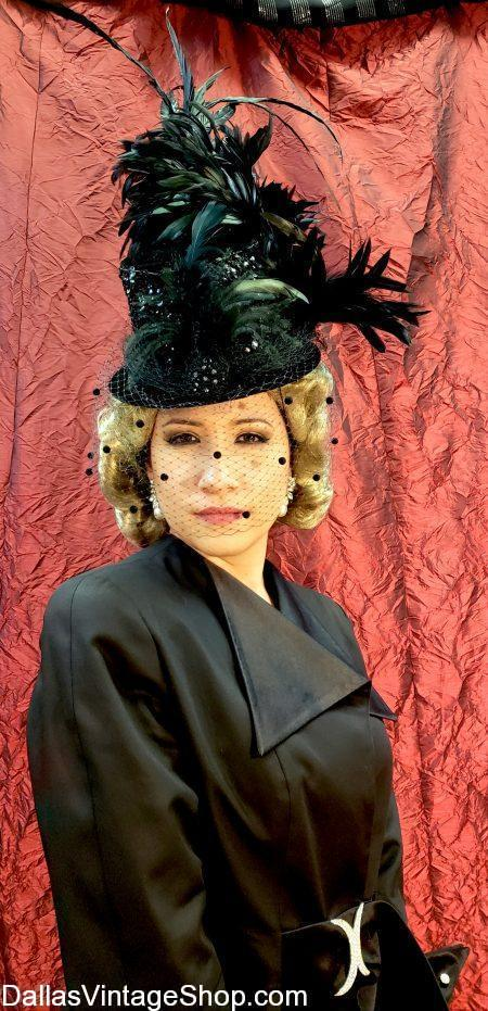 Now showing The Golden Age of Hollywood Hats for The Mad Hatter's Tea at the Dallas Aboretum. The Collection of Vintage Hollywood hat recreations include this Marlene Dietrich Inspired Hat, Hollywood Movie Star Iconic Hats, Classic Movie Star Ladies Hats and Gigantic Dallas Arboretum Hat Collection.