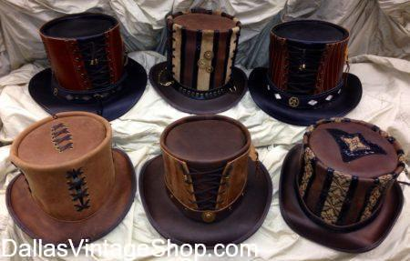 top hat, Alma Burn top hat, steampunk top hat, stovepipe hat, Alma Burn hats, hats