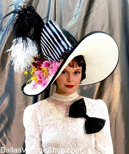 Audrey Hepburn Hats, Audrey Hepburn Costumes, Hollywood Movie Star Classic Costumes, My Fair Lady Audrey Hepburn Outfit, Hollywood Diva Costumes in stock at Dallas Vintaage Shop